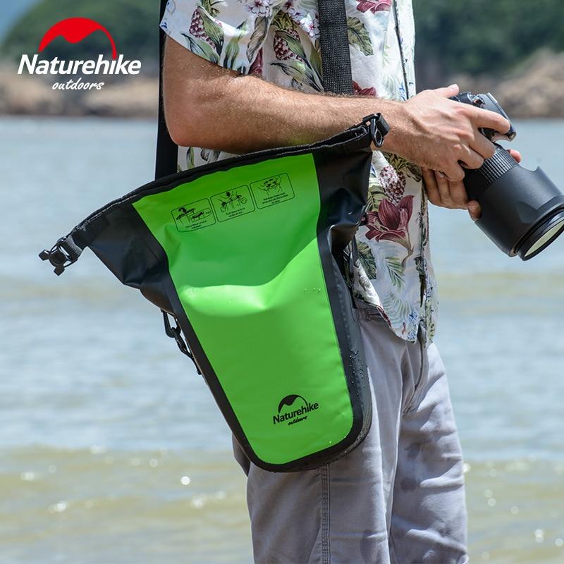 лучшая цена Naturehike Full Waterproof Camera Bag Dry Bag for DSLR Camera Shoulder Bag Case for Sepside Photography