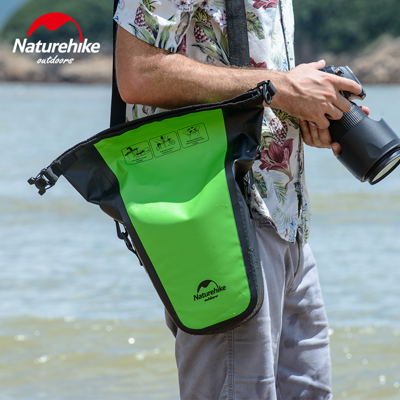 Naturehike bolsa de cámara totalmente impermeable bolsa seca para DSLR Cámara bolso de hombro funda para fotografía Sepside