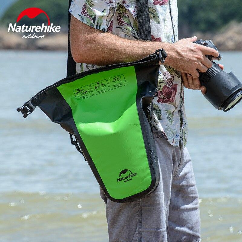 Naturehike completo impermeable bolsa seca bolsa de la cámara para DSLR Cámara bolsa de hombro para fotografía sepside