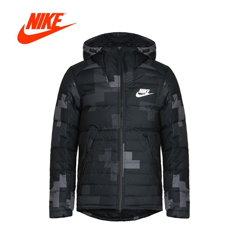 New Arrival Authentic NIKE FILL JKT HD AOP S Men's Jacket Down coat Hooded Sportswear original new arrival 2017 nike men s jacket hooded sportswear