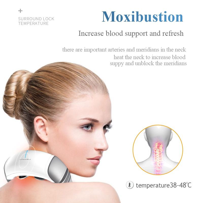 Impuls elektryczny szyi ogrzewanie na podczerwień masażu kręgu szyjnego pod wpływem impulsu akupunktura magnetyczne ulgę w bólu elektro stymulacji w Zabiegi relaksacyjne od Uroda i zdrowie na  Grupa 2