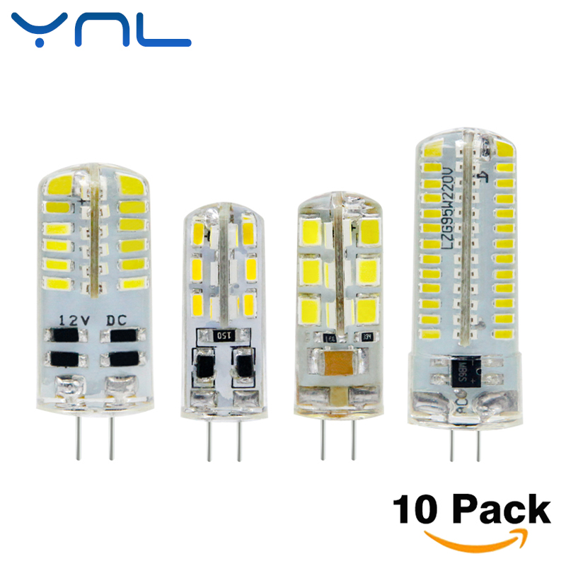 YNL 10pcs G4 LED Bulb Lamp High Power 3W SMD2835 3014 DC 12V AC 220V White/Warm White Light replace Halogen Spotlight Chandelier ynl lampada led g4 lamp ac 220v 3w 4w 5w dc 12v g4 led bulb smd3014 2835 24 48 64 replace 10w 30w halogen spotlight chandelier