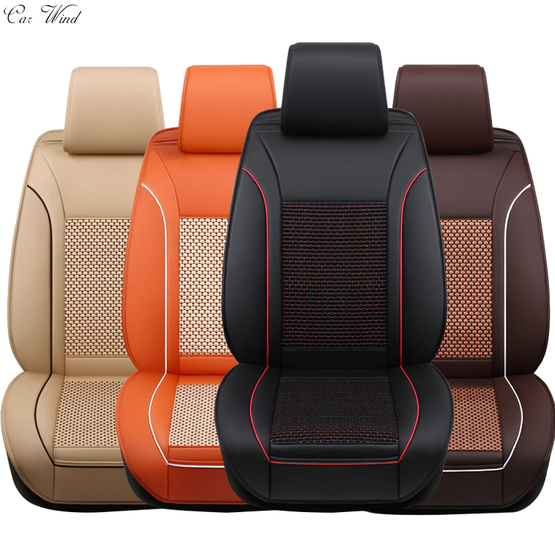 car wind brand leather car seat covers Universal for volkswagen polo cushion vw touran golf passat Toyota rav4 yaris accessories