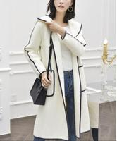 Mink coat ladies medium length 2019 autumn winter new style thickened knitted Hooded Coat, mink sweater, cardigan.