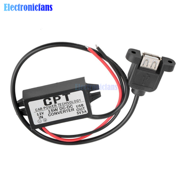 DC-DC 12V to 5V Step-down Converter Module USB converter / micro USB Car Power Output Adapter Low Heat 96% Conversion