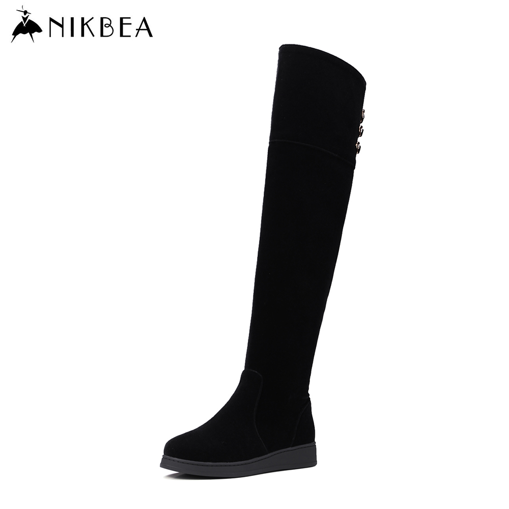 nikbea flat the knee boots large size 2016