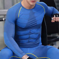 Long Johns Winter Thermal Underwear Sets Men Brand Quick Dry Anti-microbial Stretch 2019 Men's Thermo Underwear Male Spring Warm