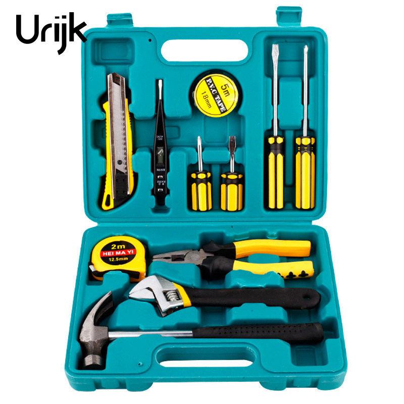Urijk 16Pc/Set Car Motorcycle Maintenance Emergency Kit Car Combination Set Auto Accessories Home Hardware Toolbox Hand Tool Set mitsubishi 100% mds r v1 80 mds r v1 80