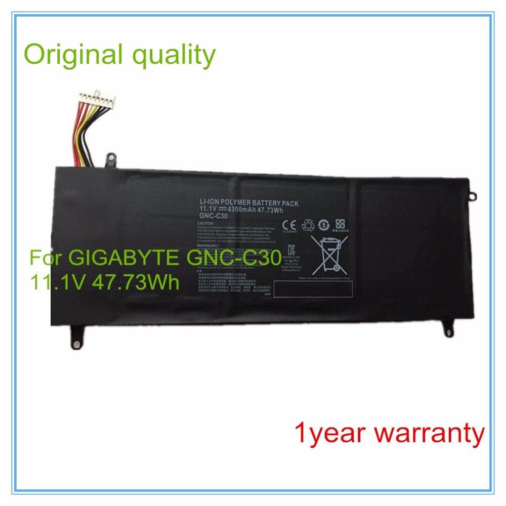 Original 11.1V 4300mAh 47.73Wh Laptop Battery GNC-C30 for U2442 U24F P34G V2 High Quality