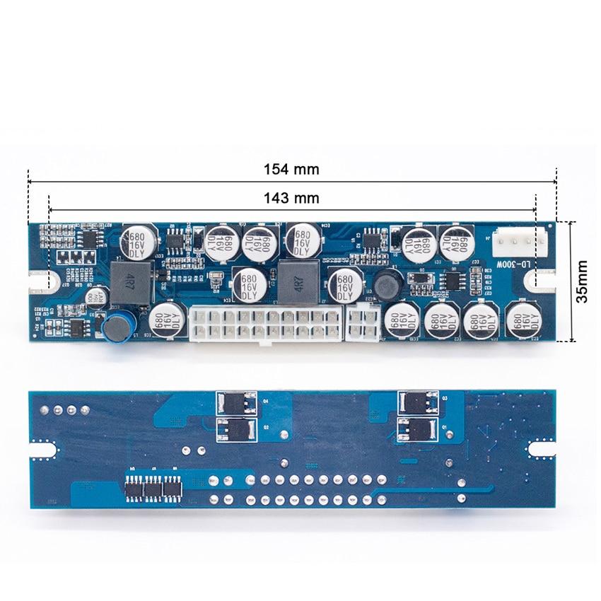 Модуль питания 300 Вт, 1 комплект, плата питания для преобразования 12 В в, для промышленного компьютера, NAS, разъем для ЦП, 24-контактный разъем ATX
