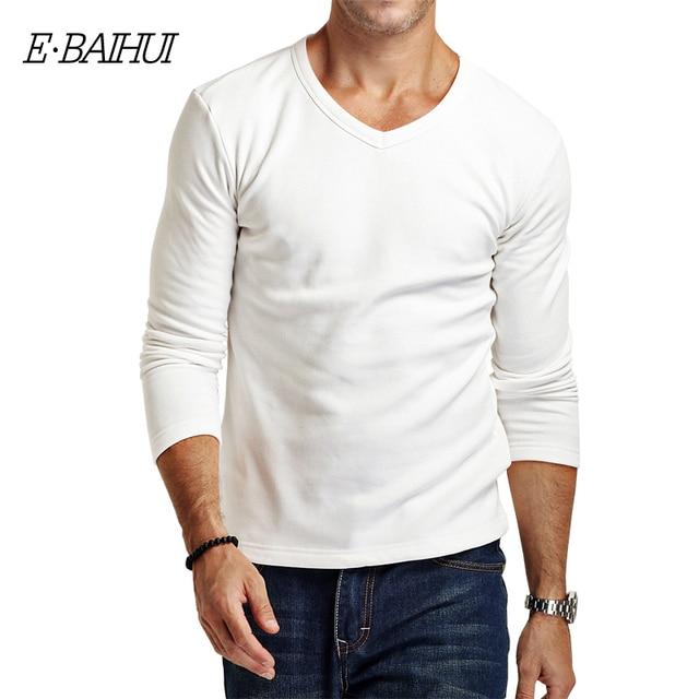 d3aa13f93a4f E-BAIHUI brand autumn winter Men s hoodies men fit t-shirts thermal  underwear t shirt casual cotton male basic shirt JR035