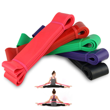 Купить с кэшбэком Home Pilates Fitness Loop Tension Training Crossfit EP Rubber Material Resistance Bands Workout Pull Up Yoga Gym Power Sports
