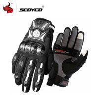 SCOYCO Motorcycle Gloves Motocross Gloves Carbon Fiber Protective Moto Gloves Luva Couro Motoqueiro For Men And Women