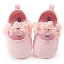 Baby Shoes Flowers Newborn Baby Girl