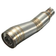 AUTO -51mm S-shaped muffler Stainless Steel Exhaust Silencer Pipe Muffler for Motorcycle