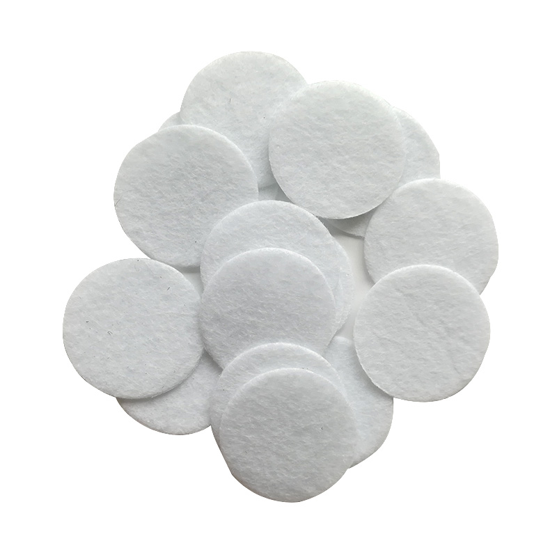 (ONE LOT=1000PCS) 2.5CM White Round Felt Fabric Pads Flower Accessory Patches DIY Craft Material