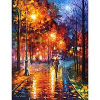 Contemporary art christmas emotions knife oil painting canvas beautiful landscape pictures for wall decor