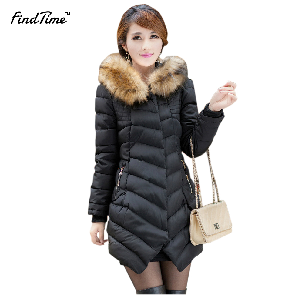 Womens Winter Jackets and Coats 2017 Hooded Cotton Parkas for Women s Winter Jacket Parka female