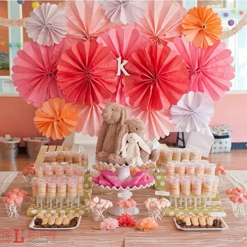 50pcs Decorative Crafts 6 Inch Flower Origami Paper Fan