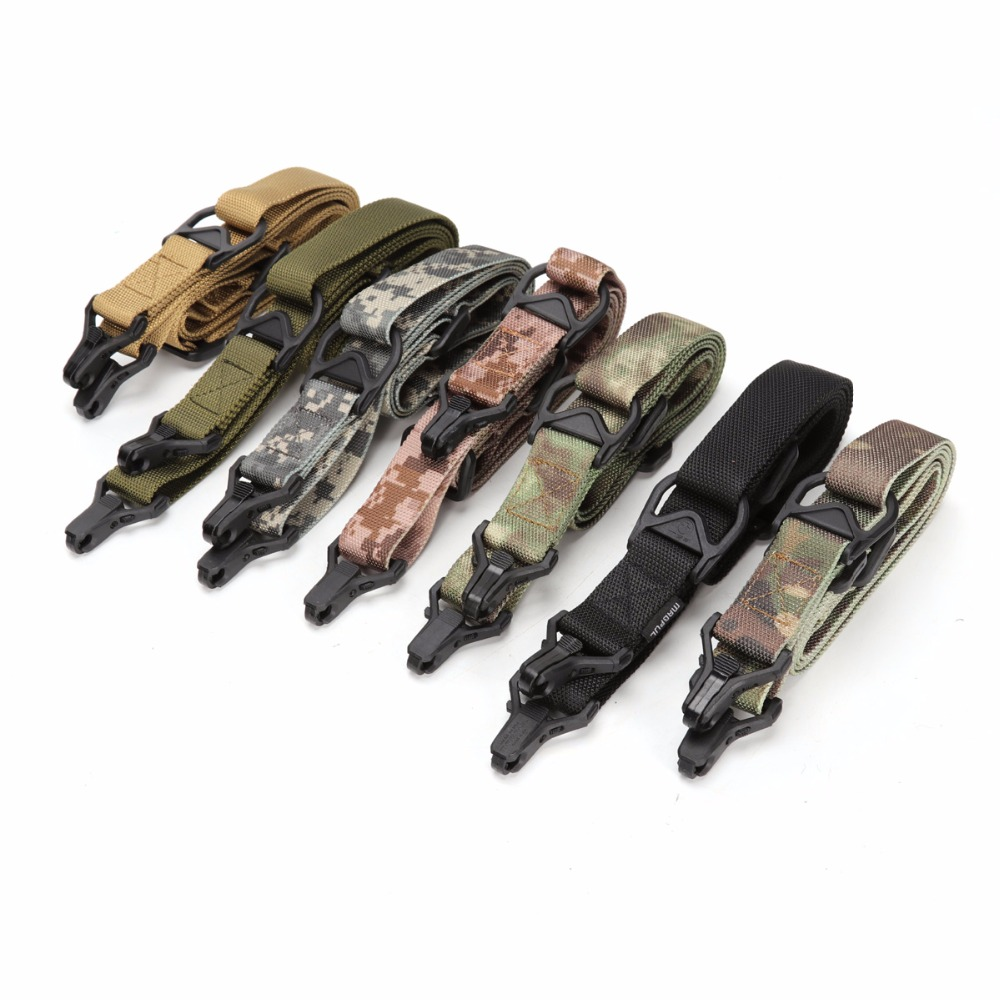 Wolfslaves MS3 Tactical Gun Sling Multi Mission Rifles Carry Sling Adjustable Length Shoulder Strap Hunting Accessories Gun Belt