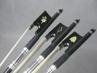 3pcs different plaid Carbon fiber violin bow 4/4