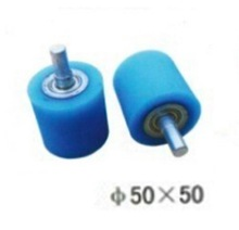 4PCS/LOT M10-50x50mm   Woodworking Wrapping Machine Silicon Rubber Wheels Pulley Flat  Belt Bearing Wheel