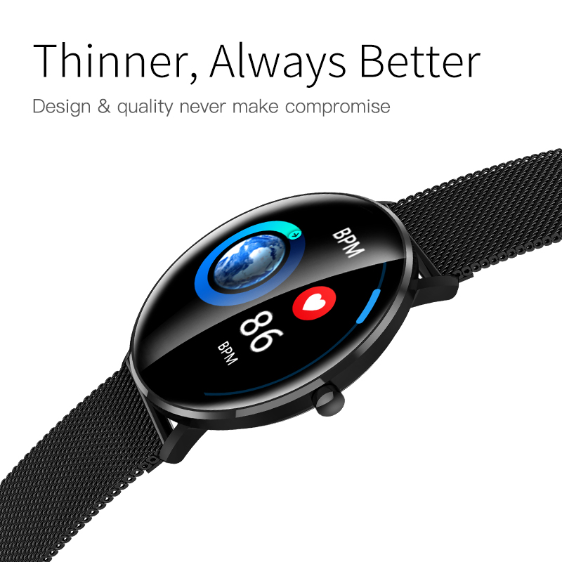 L6 Fitness tracker smart watch glass IP68 waterproof DIY watch face Bluetooth Call 250mAh battery black smartWatch For Android in Smart Watches from Consumer Electronics