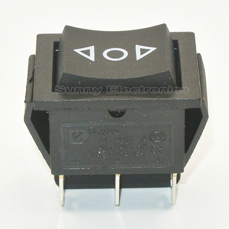 50pcs 6 Pin DPDT (ON)-OFF-(ON) Power Window Momentary Rocker Switch AC 250V/20A 125V/15A image
