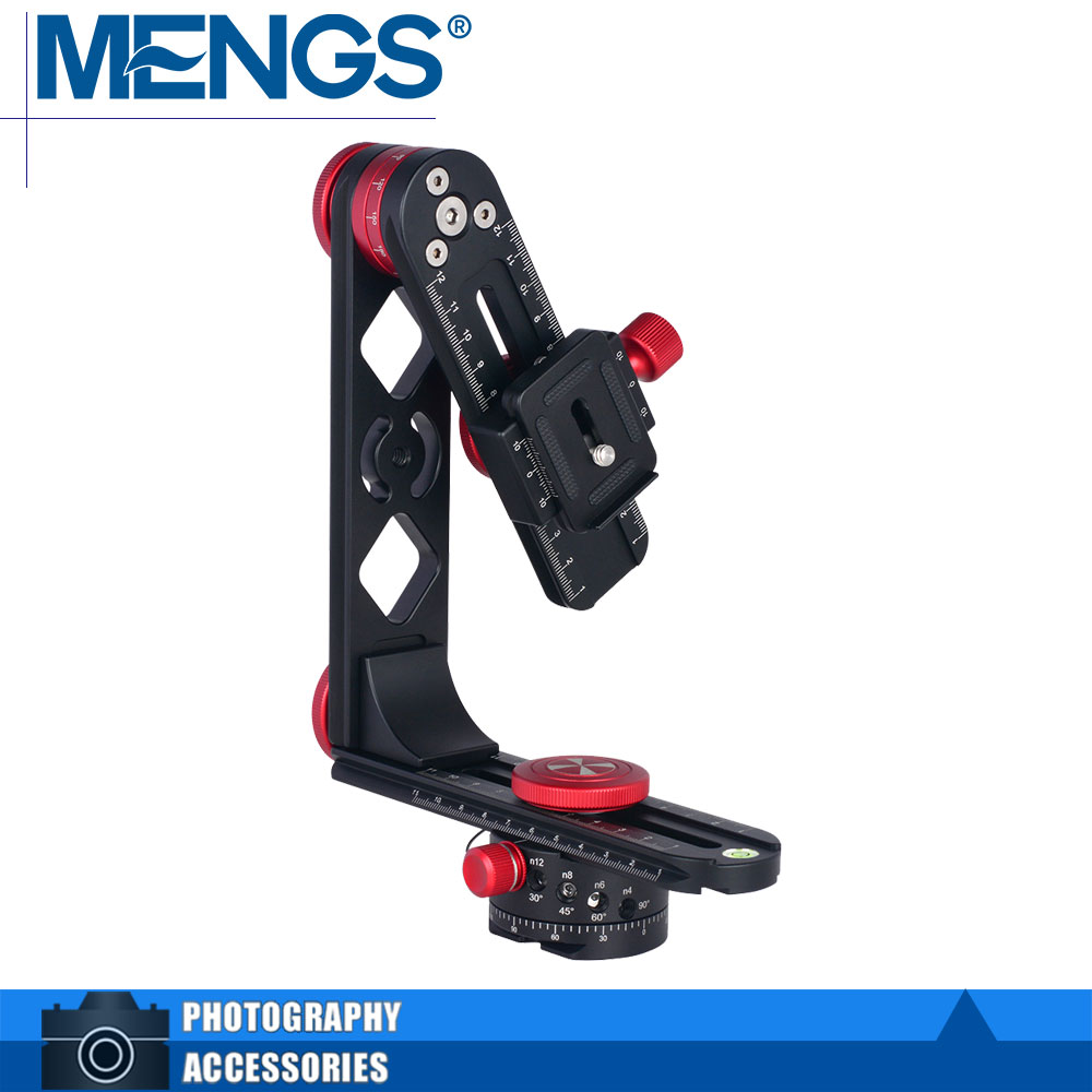 MENGS PH 720B 720degree Panoramic Fluid Head With Aluminum Alloy For DSLR Cameras Compatible With Arca
