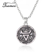 Adjustable Pendant Neckalce Pagan Veles Brand Jewelry Teamer Symbol Talisman Wealth Sliver-Color