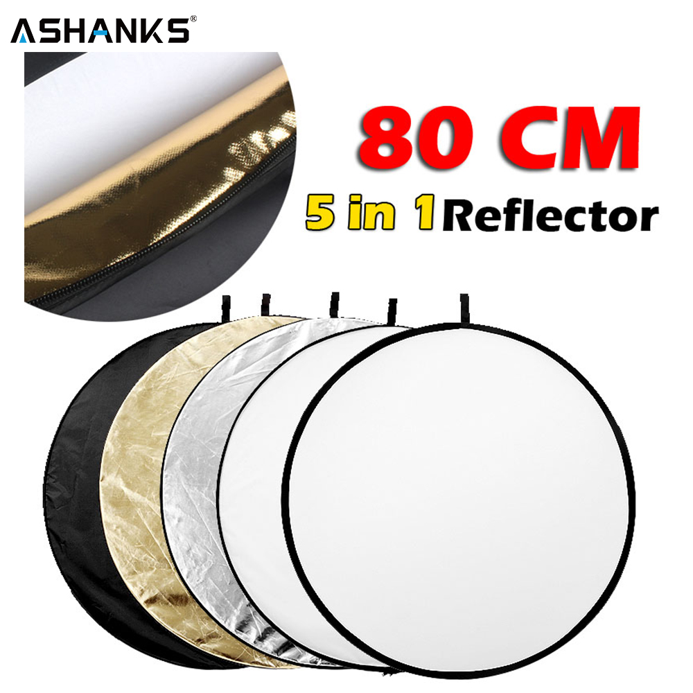 31.5 80cm 5 in 1 Portable Collapsible Light Round Photography Reflector for Studio Multi Photo31.5 80cm 5 in 1 Portable Collapsible Light Round Photography Reflector for Studio Multi Photo
