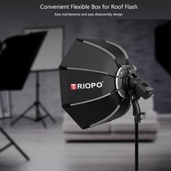 Triopo 65cm Octagon Umbrella Softbox For Canon Nikon Sony Pentax Godox  V860II TT350 JY-680A  Speedlite Flash Diffuser