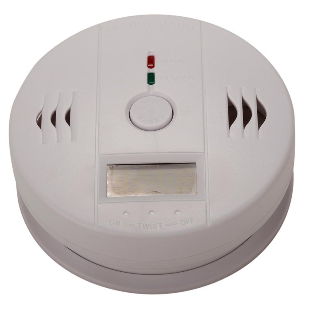 Fire Protection Home Security Lcd Carbon Monoxide Detector Independent Co Gas Sensor 85db Warning-up High Sensitive Poisoning Alarm 100pcs Carbon Monoxide Detectors