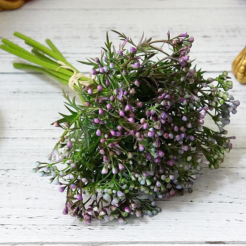 ad010366aedb1d 1 bukiet 9 oddziałów sztuczny kwiat japoński ziarna owoce trawy ...