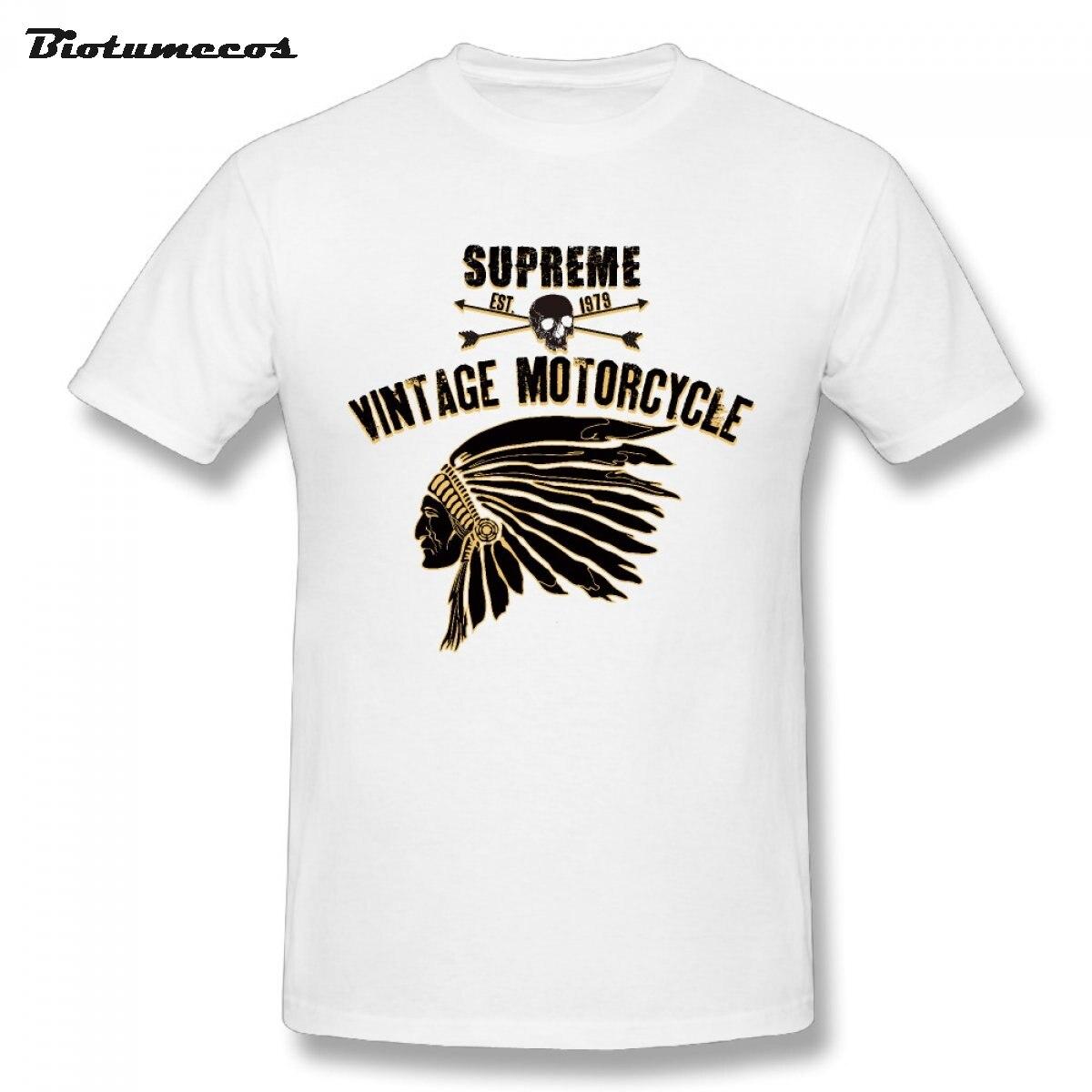 T Shirt Vintage Motorcycle Letter Tees Shirt Men CartoonT ...