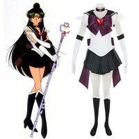 Sailor Moon Super S Outer Senshi Setsuna Meiou Battle Ver Sailor Pluto Cosplay Costume Deluxe Fancy