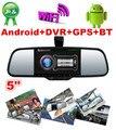"""5 """" Android 4.0 Capactive зеркало заднего вида автомобильный видеорегистратор + HD ночного видения камеры заднего вида + функцией GPS Navi + Bluetooth + Wifi"""