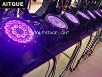 2lot Stage spot light 24x18w waterproof par stage light 18w led rgbwa uv ip65 par can light