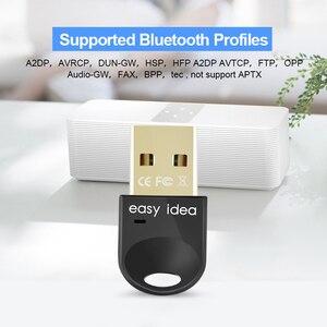 Image 2 - Không Dây USB Bluetooth 5.0 Adapter PC Bluetooth Dongle 4.0 Mini Bộ Thu Âm Thanh Bluetooth Tốc Độ Cao Bộ Phát Cho Máy Tính PC