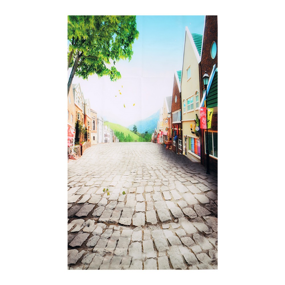 3x5FT Colorful Street Photo Backdrops Vinyl Studio Props Photography Background shengyongbao 300cm 200cm vinyl custom photography backdrops brick wall theme photo studio props photography background brw 12