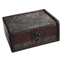1Pc Antique Treasure Chest Storage Box Gift Cards Collection Boxes Makeup Organizer Jewelry Case Ornaments