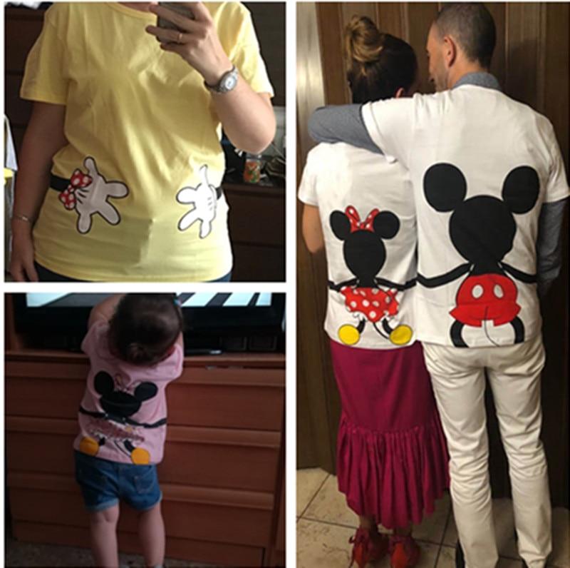 37abf1fa ... Dad and Me T-skjorte Summer mor og datter Klær Gutter Jenter Mickey  Minnie Mus ...