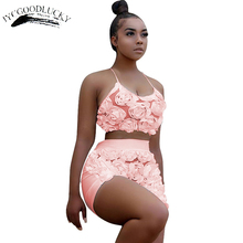Sexy Two Piece Set 2017 New Halter Beach 2 Piece Set Women Crop Top And Shorts Sets For Women Clothing Summer Female Suits