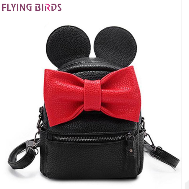 78b4998a3af2 FLYING BIRDS small bag mini women backpack cute bow female Korean style  Mickey ear school bags