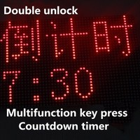 Multifunction key press double unlock countdown timer prop takagism game real life ecape room time props for chamber room