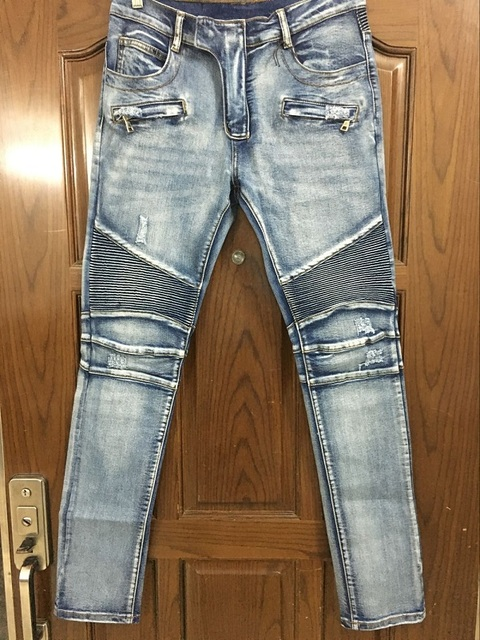 b1b242528e3 NWT BP Men s Stylish Fashion Stretch distressed Slim acid washed biker  Jeans Size 28-42 ( 957)