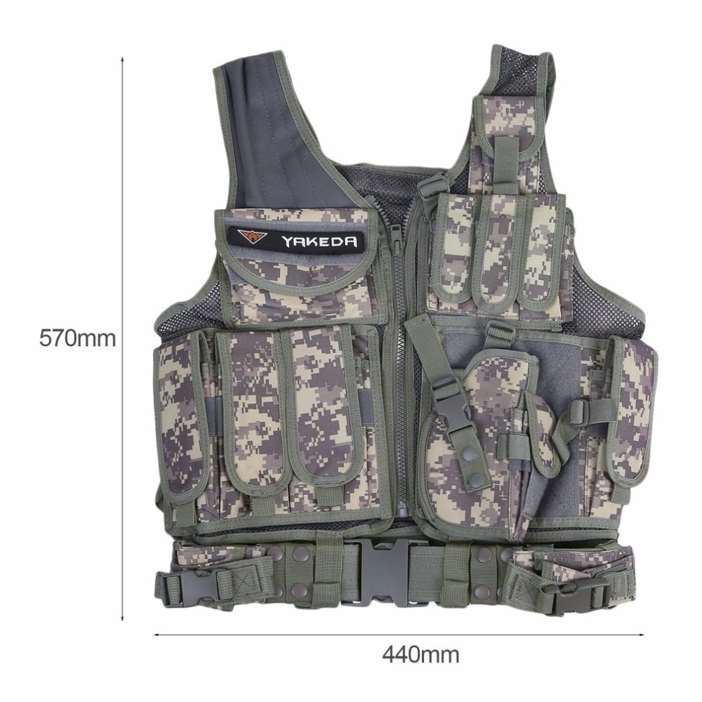 Police Tactical Vest Outdoor Military Body Armor Wear Hunting Vest Army Swat Molle Vest Camouflage/Army Green