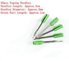 [ Fly Eagle ] Pack of 5 Standard Tagger Gun Spare METAL needles Type 202 Green