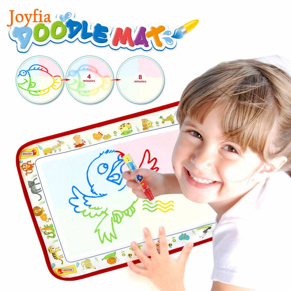38*29cm Magic Water Drawing Board Coloring Book With Water Pen Painting Doodle Mat Education Toys For Children Birthday Gift