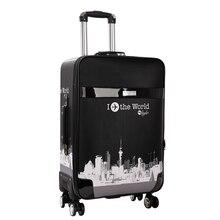 Nieuwe Leuke Handbagage Koffer Met Wielen Meisje & Jongen Cartoon Foto 'S Bagage Reistas Trolley Koffer Studenten School bagage Tas